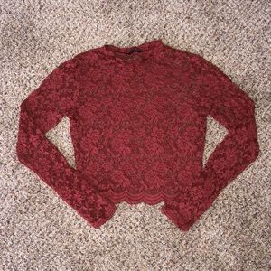 Women's Ambiance Lace Crop Top
